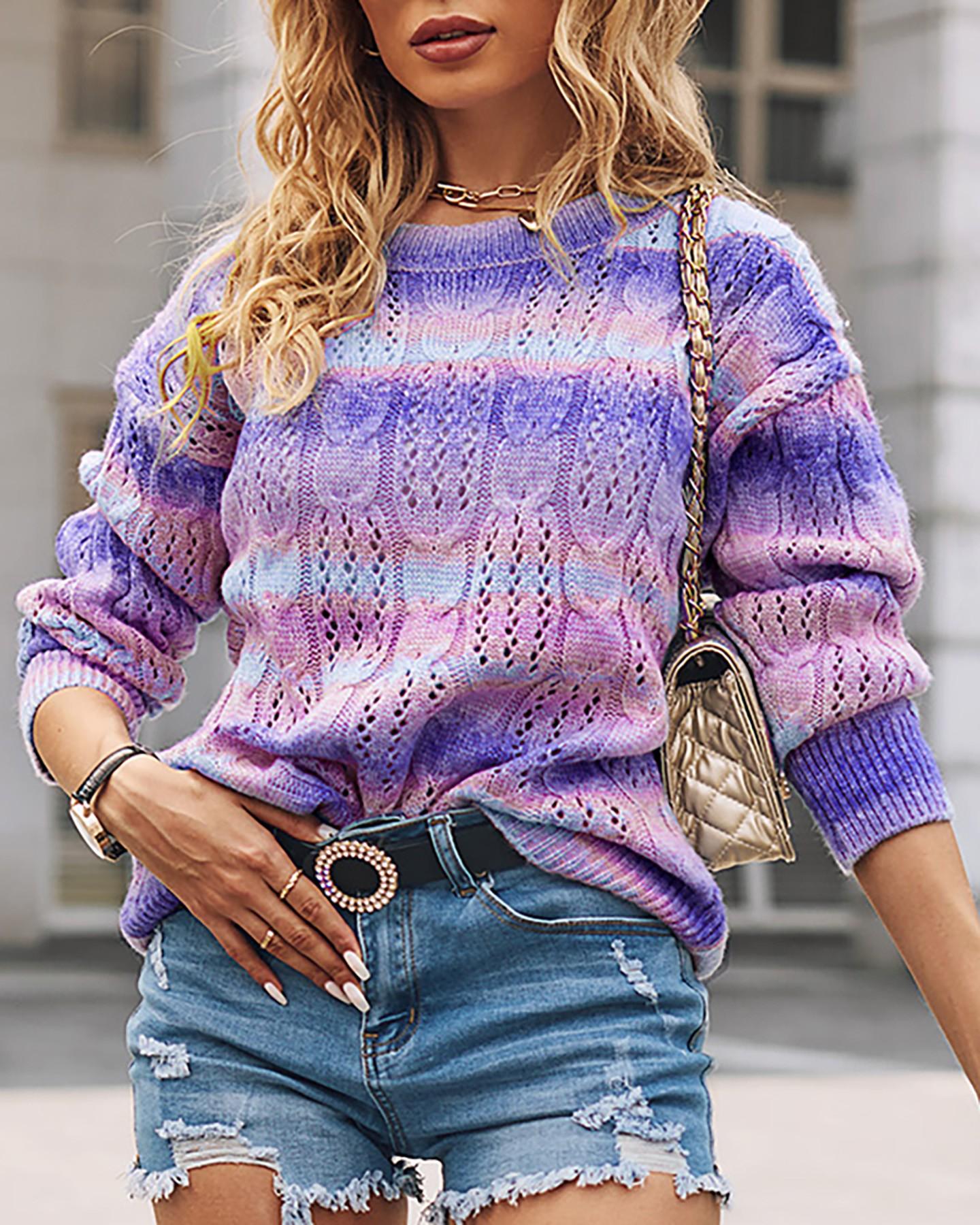 Dejte šanci dámským duhovým svetrům